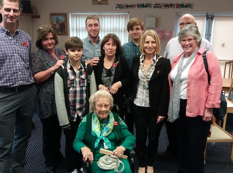Iris celebrates her 100th birthday with a visit from the mayor
