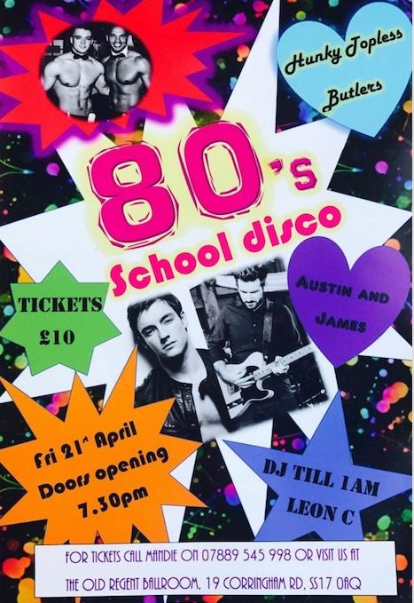Eighties night at the Old Regent Ballroom