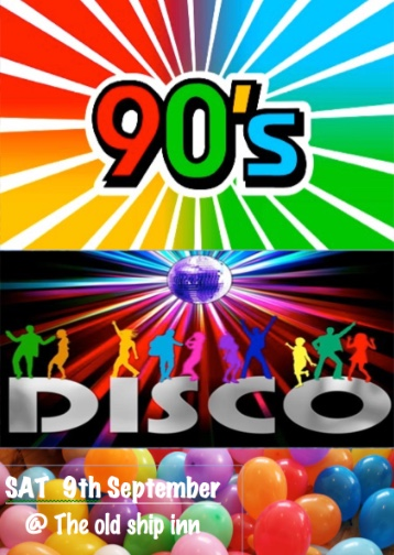 It is nineties night at The Old Ship Inn in Aveley