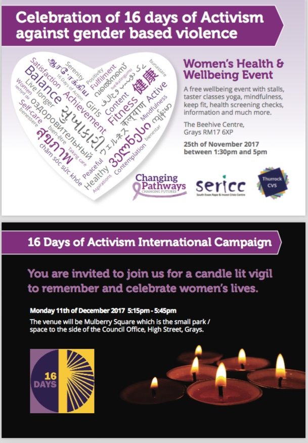 Gender Based Violence: Sixteen days of activism in Thurrock