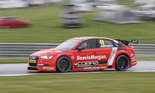 AmD with Cobra Exhausts targets points on the board at Thruxton