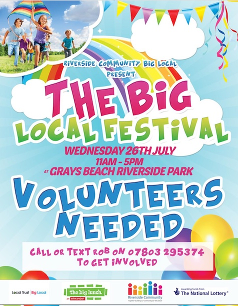 Big shout out for volunteers at Big Local Festival in Grays