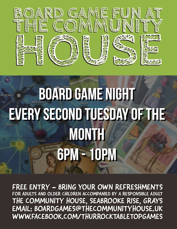 Board games at the Community House in Grays