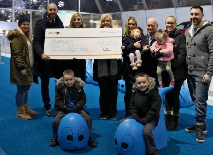 intu Lakeside hand over cheque for £25,000 to chosen charity
