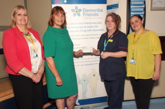 Orsett Show give cash boost to dementia charity