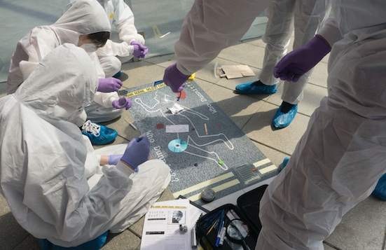 South Essex College students in CSI experience day