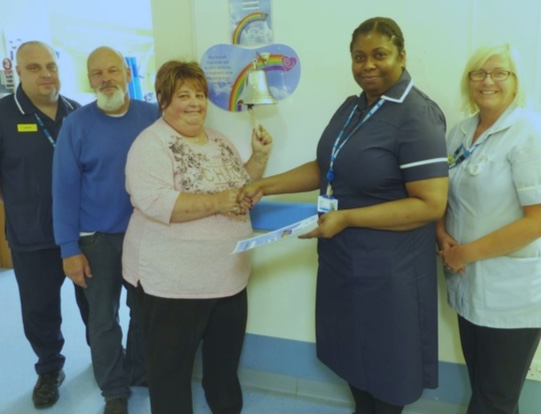 Cancer patients ring for recovery