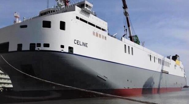 World's largest freight vessel docks in Purfleet