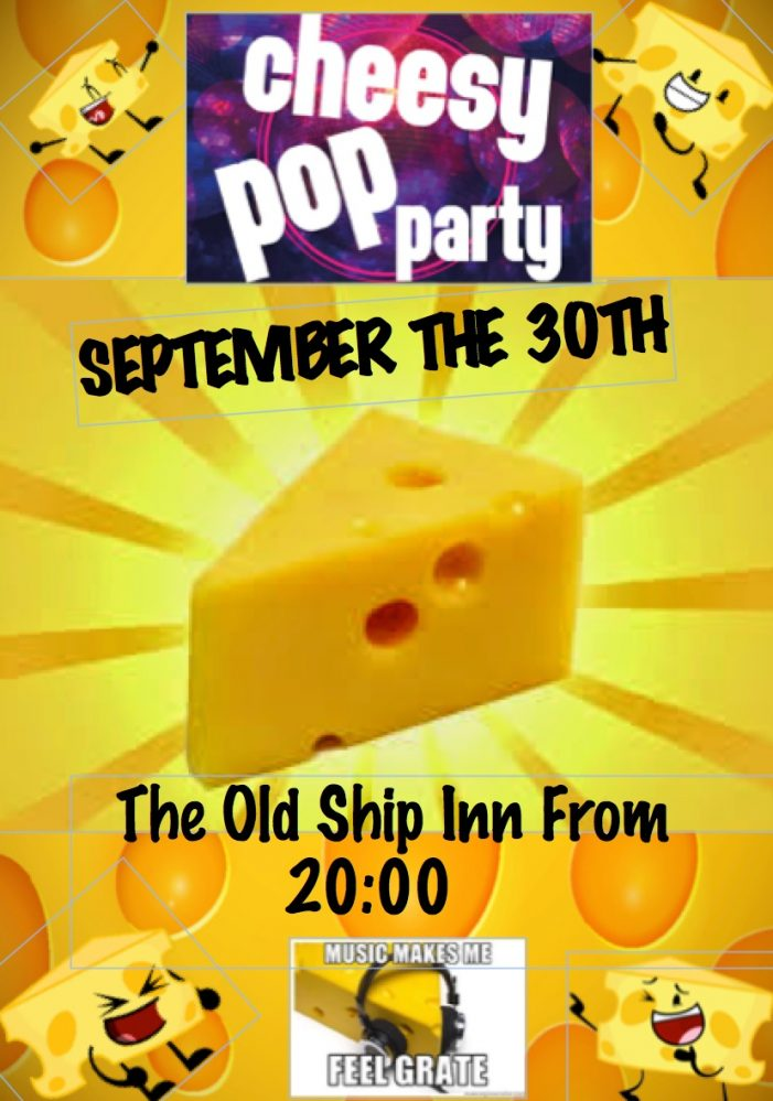 Cheesy pop time at The Old Ship Inn, Aveley