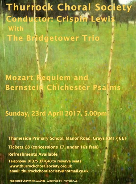 Thurrock Choral Society Spring Concert
