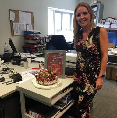 Tony LeVoi employee celebrates 25 years service