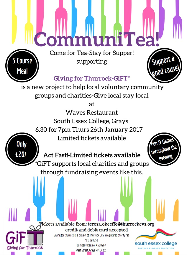 Charity dinner for Thurrock community projects
