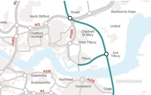 Highways England reveal changes to Lower Thames Crossing route
