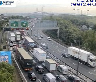 Monday traffic and travel: Delays at Dartford Crossing