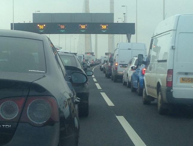 Saturday traffic and travel: Dartford Crossing delays