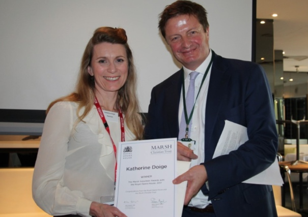 Volunteers recognised by the Royal Opera House