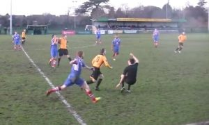 East Thurrock in action v Leiston