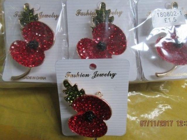 Fake poppy merchandise seized at port of Tilbury