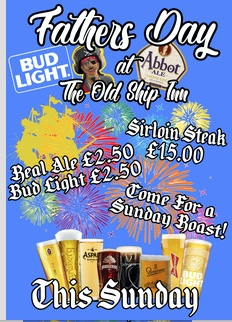 Father's Day at The Old Ship Inn, Aveley