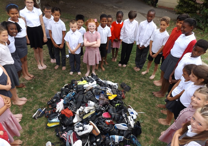 Thameside Primary School donate school shoes