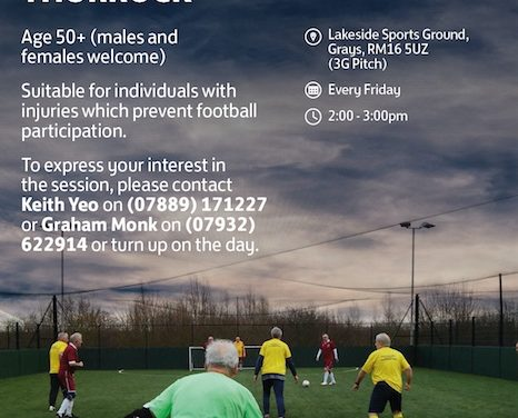 Great chances to get involved in football in Thurrock