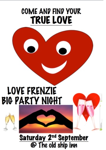Join in on the Love Frenzy at The Old Ship Inn this weekend