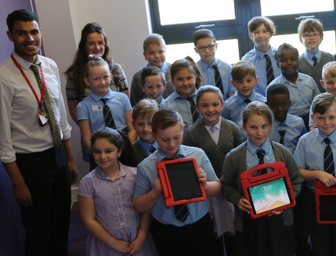 Gateway Primary students earn iPads for top attendance