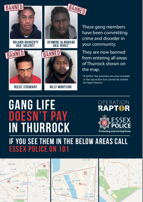 Essex sees one of the highest increases in the number of children in need of care due to gangs.