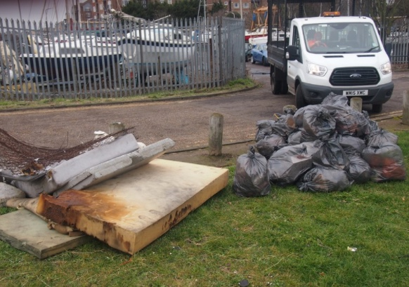 Big tidy up on Grays riverfront continues