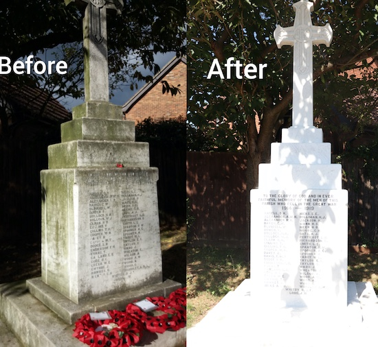 War memorial restored to its former glory