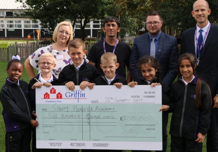 Tilbury students given tracksuit boost by Griffin Estate Agents