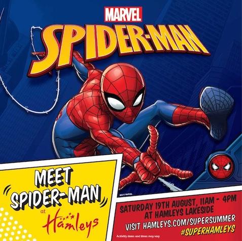 Spiderman is coming to Hamleys at intu Lakeside