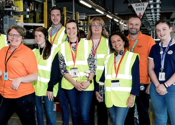 Hassenbrook Youth Group gets tour behind scenes at Amazon site