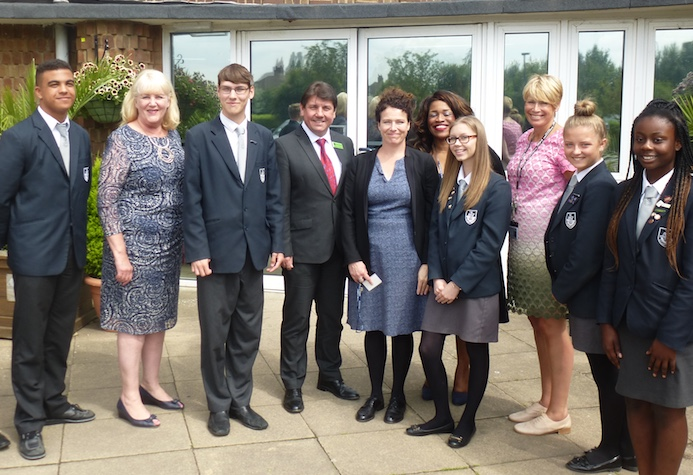 Politicians visit Hassenbrook Academy