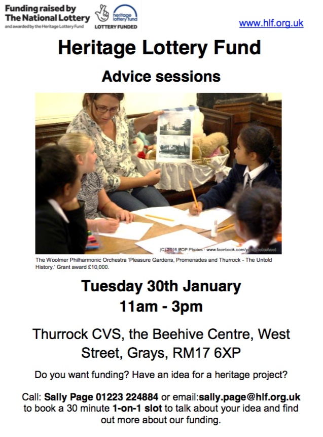 Heritage Lottery advice sessions