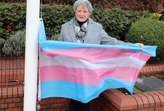 Thurrock Council raise flag high on Transgender Day of Remembrance.