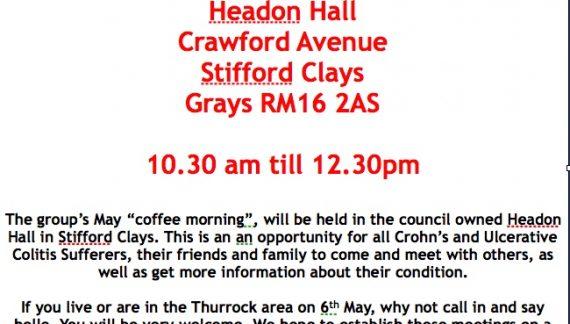 Coffee morning for Basildon and Thurrock IBD group