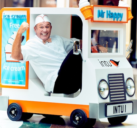 Stoop for a scoop at the world's smallest ice cream van at intu Lakeside