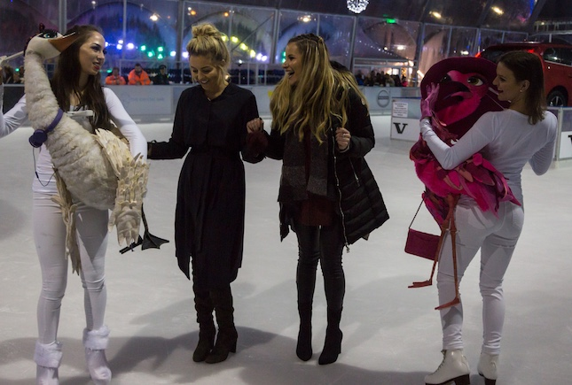 TOWIE stars hit the ice at intu Lakeside