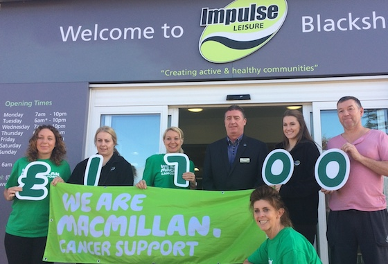 Impulse Leisure raises vital funds for cancer charity