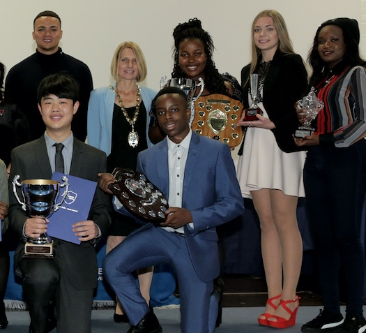 Former England football star host at Hathaway Academy Presentation Evening