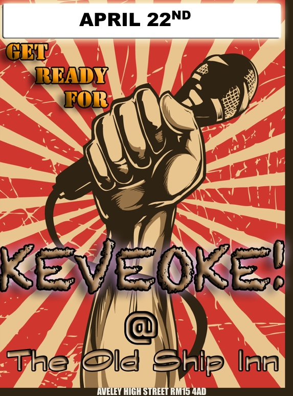Look out for Keveoke at the Ship Inn, Aveley