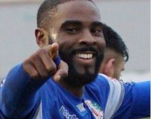 Football: Bishop remains a blue as he re-signs for Grays Athletic