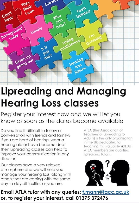 Thurrock Adult Community College to offer lipreading classes