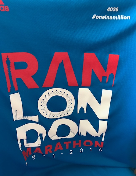 Are you running the 2017 London Marathon?