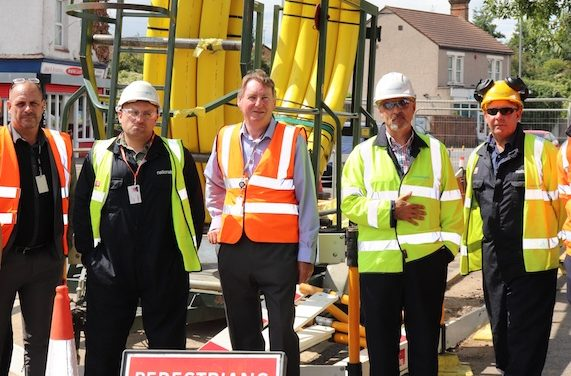 London Road gas works are on track
