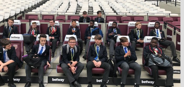 Ormiston Park Academy visit London Stadium