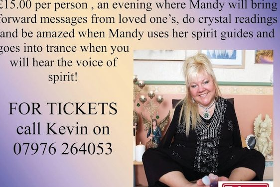 Psychic Mandy Masters set for Old Ship Inn in Aveley