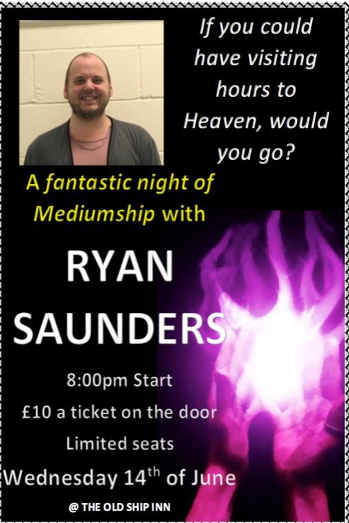 Medium Ryan Saunders at the Old Ship Inn, Aveley