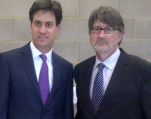 Mike Le Surf and Ed Miliband